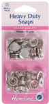 H405R.N Heavy Duty Snaps Refill Pk: Nickel/Silver - 15mm